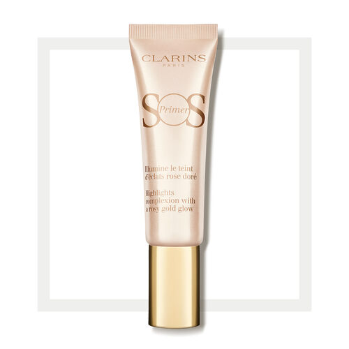 SOS Primer Touches of golden pink to brighten up the complexion