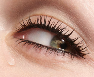 Eyes with teardrop