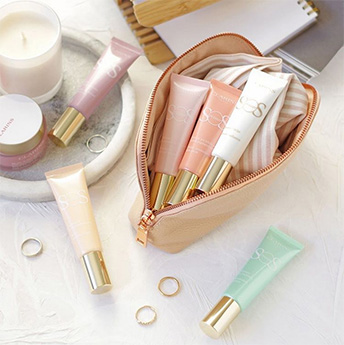 Product in a make-up bag