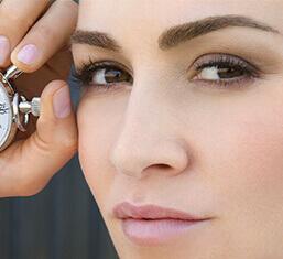 Close up on model's eye contour