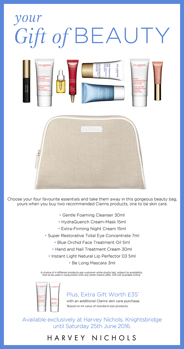 Harvey Nhicols Gift Of Beauty Clarins